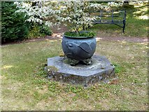 SK4924 : Chinese Garden, Whatton House, fish cauldron by Alan Murray-Rust