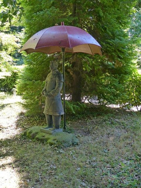Chinese Garden, Whatton House, parasol
