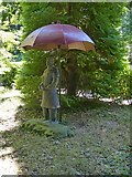 SK4924 : Chinese Garden, Whatton House, parasol by Alan Murray-Rust