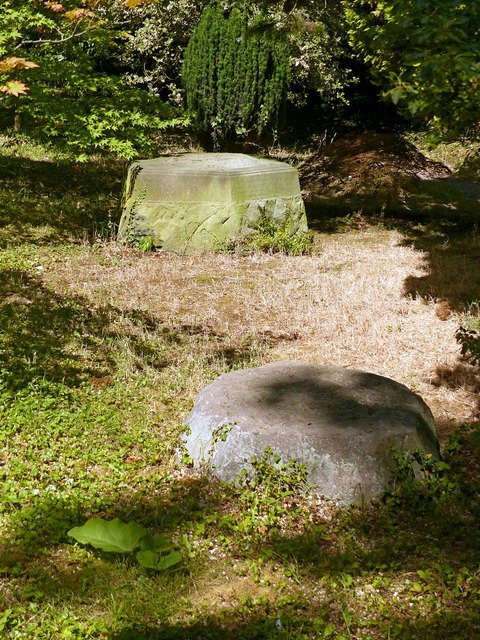 Chinese Garden, Whatton House, stone bases