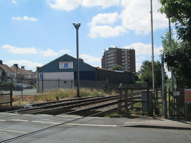 Level crossing at Langley