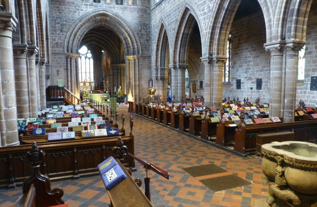 Interior of St Mary's Church, Stafford