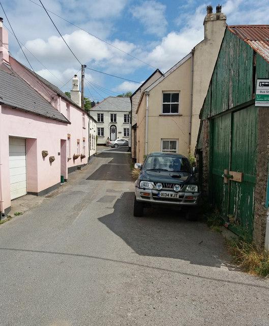 Parracombe: main street