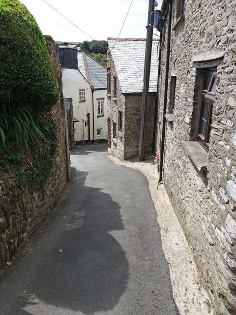 Parracombe: narrow street