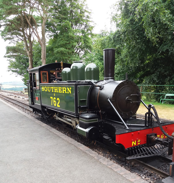 Woody Bay Station: locomotive 'Lyn'