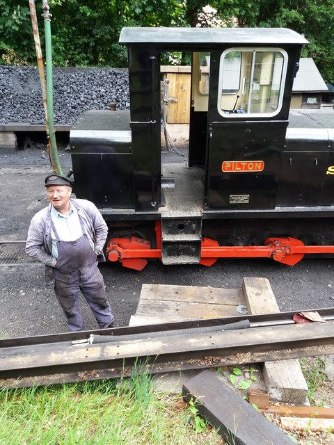 Woody Bay Station: locomotive yard