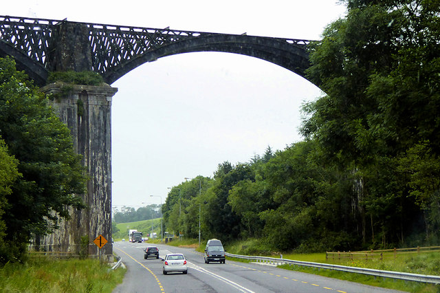 The Chetwynd Viaduct crossing the N71