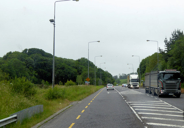 The N71 south of the Chetwynd Viaduct