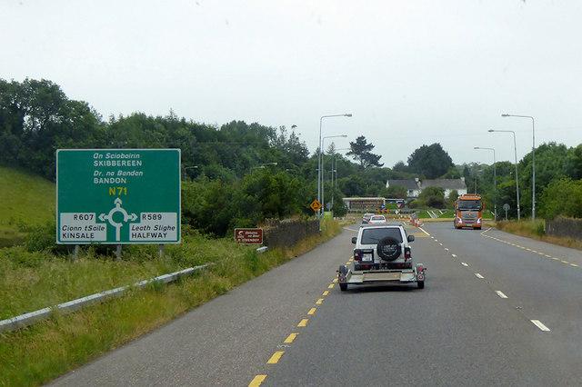 Southbound N71 at Halfway