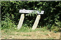 TM3878 : Bungay Road sign by Adrian Cable