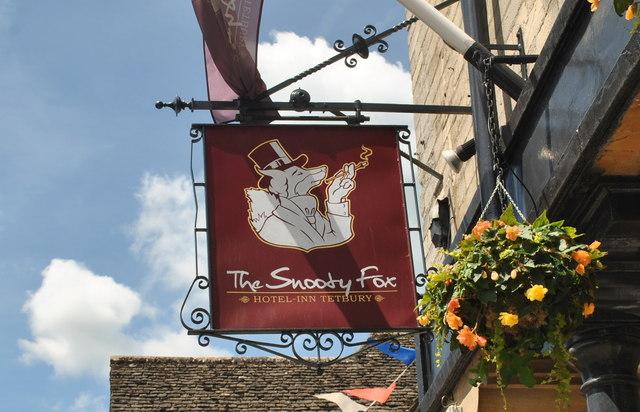 The Snooty Fox Sign, Tetbury, Gloucestershire 2015