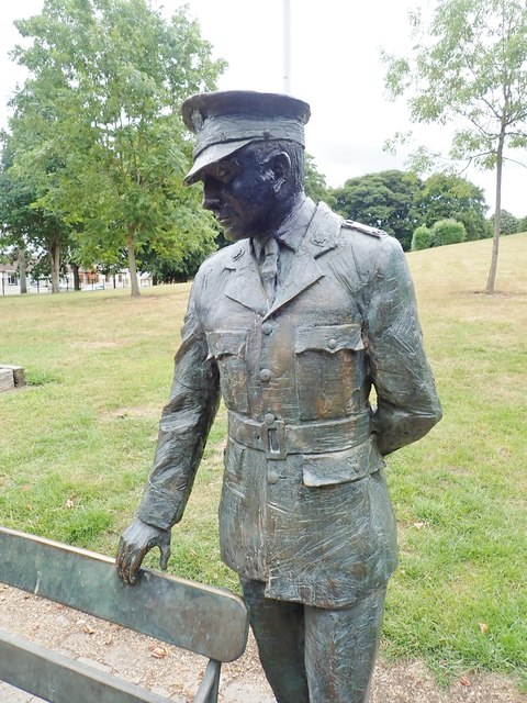 Statue of Garda Martin Naughton in Ice House Hill Park, Dundalk