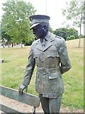 J0407 : Statue of Garda Martin Naughton in Ice House Hill Park, Dundalk by Eric Jones