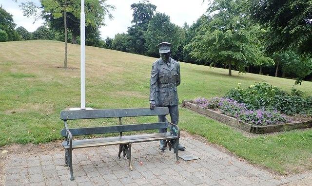 The Garda Naughton Memorial in Ice House Hill Park, Dundalk