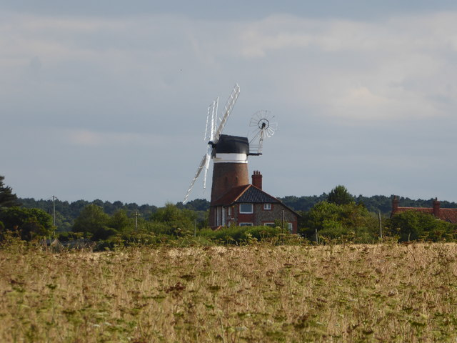 Weybourne Mill from the Norfolk Coast Path