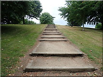 J0407 : Steps leading up the hill at Ice House Hill Park by Eric Jones