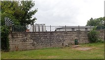 J0407 : The rear wall of the Great Northern Distillery site by Eric Jones