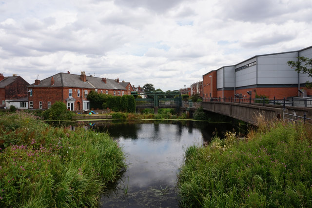 Catchwater flows into the River Witham, Lincoln