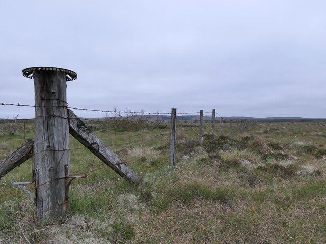 Stile in fence near Loch nan Sgiath, Isle of Lewis