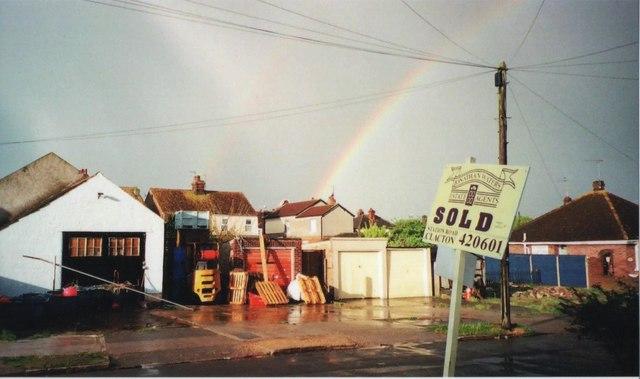 Jameson Road and rainbow