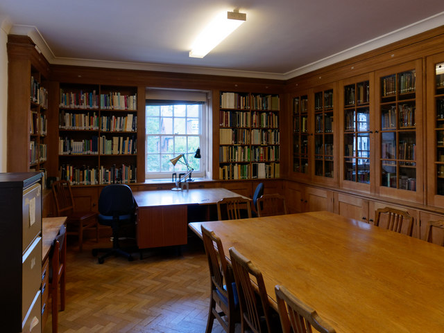In the library of the Scott Polar Research Institute