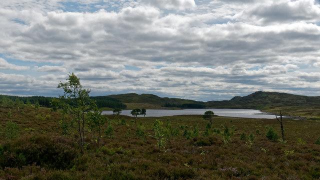 First view of Loch nam Bonnach