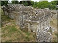 SP2712 : Bale tombs in Swinbrook churchyard by Philip Halling