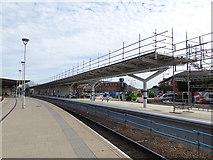 SK3635 : Platform 6 under construction at Derby station (2) by Stephen Craven