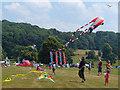 SO5063 : Flying kites at Berrington Hall, Herefordshire by Robin Drayton
