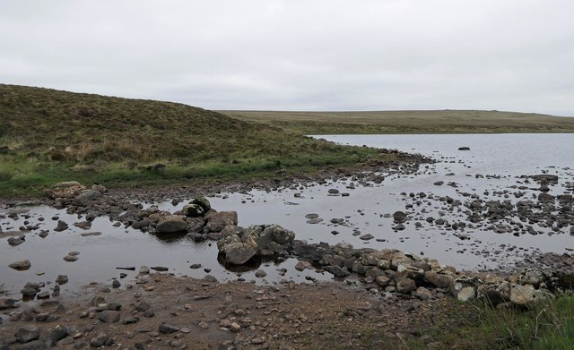 Stepping stones, Loch a' Bhuna, Isle of Lewis