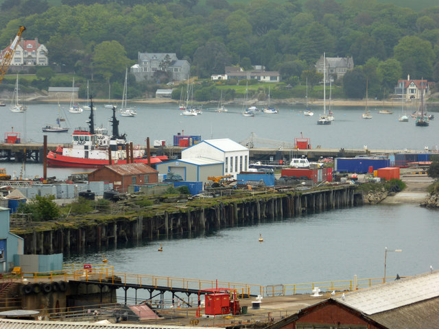 Falmouth Docks from Pendennis Rise