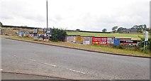 J0717 : Advertisements facing the border crossing on Church Hill, Jonesborough by Eric Jones