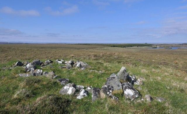 Shieling hut footings, Cnoc na Crotha, Isle of Lewis