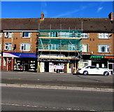 ST3090 : Malpas Road Spar under scaffolding, Newport by Jaggery