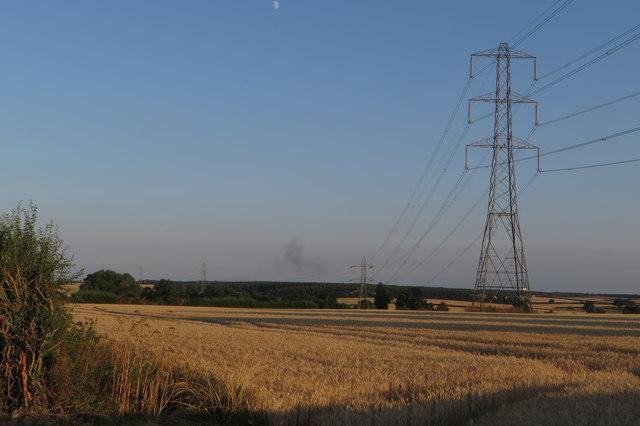 Pylon in the field