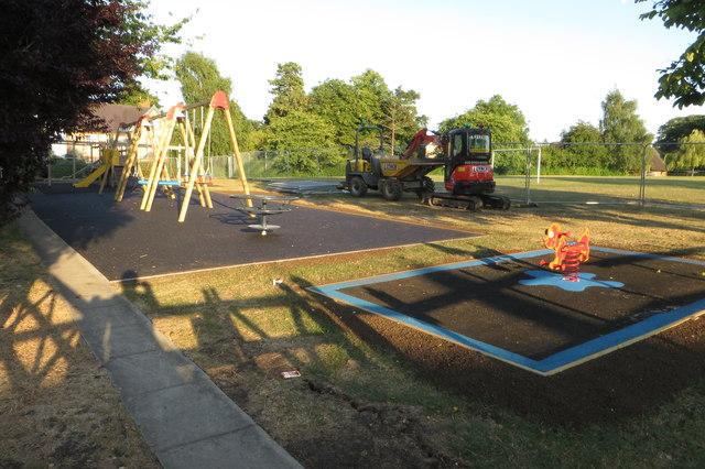 Playground undergoing refurbishment