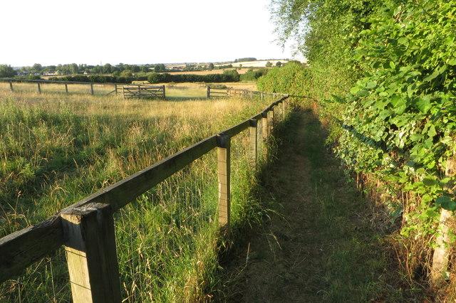 Footpath towards Strixton