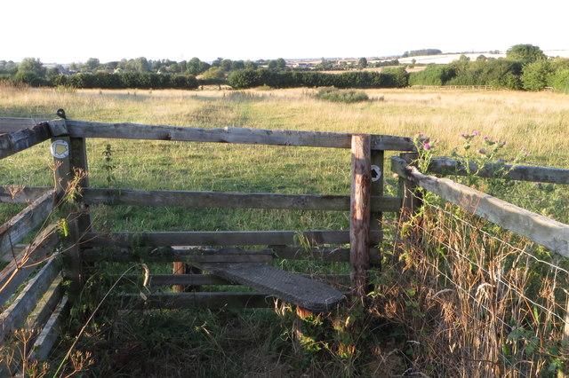 Stile on the path to Strixton