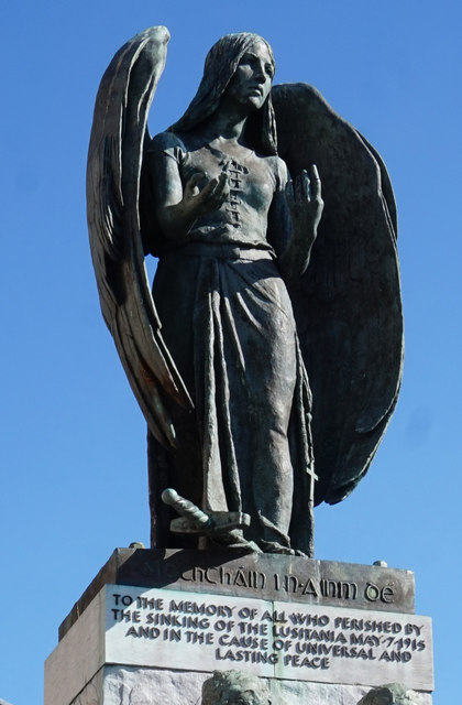The Lusitania memorial in Casement Square, Cobh