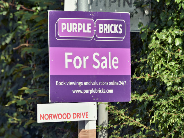 purplebricks sign belfast july 2018 albert bridge geograph