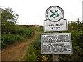 SH3031 : National Trust sign at  Foel Felin Wynt by David Hillas