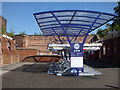 SE3693 : Cycle rack, Northallerton station  by Stephen Craven