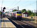 SE3693 : Northallerton station - approaching London train by Stephen Craven