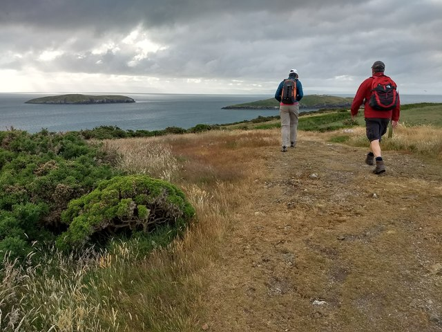 Walkers on the Wales Coast Path