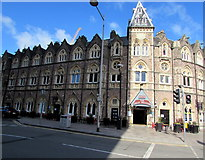 ST1875 : Sunshine and shadow on the Great Western, Cardiff city centre by Jaggery