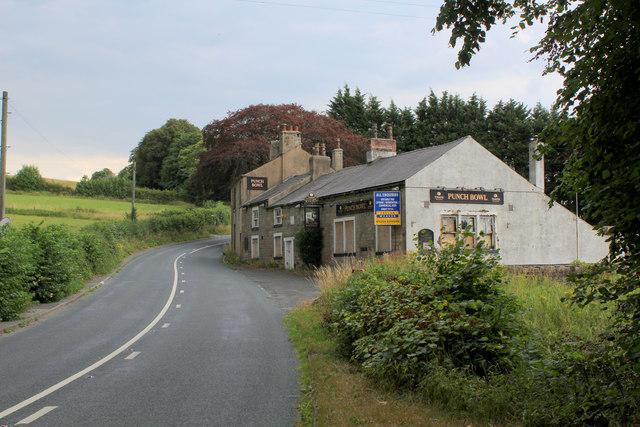 Punch Bowl Inn on Longridge Road - now closed