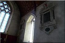 SO3958 : Memorials inside St. Mary's Church (Chancel   Pembridge) by Fabian Musto