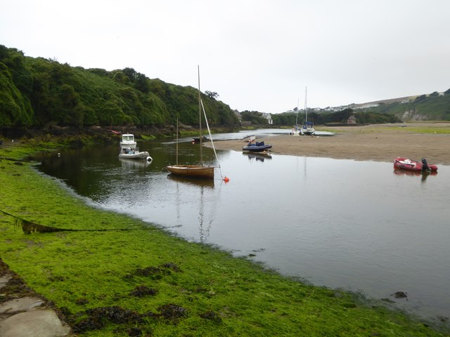 The estuary of River Avon at low tide