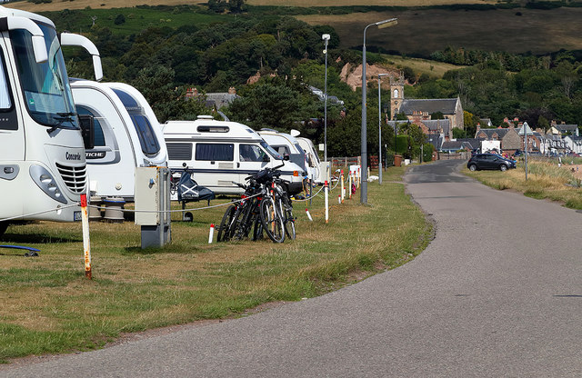 The access road to Rosemarkie Camping and Caravan Site
