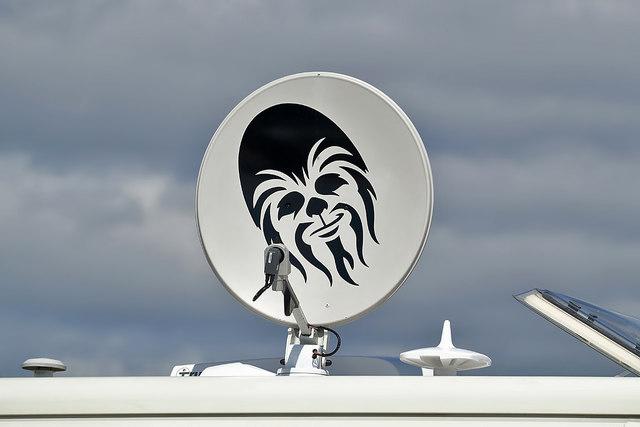 A Chewbacca satellite dish at Rosemarkie